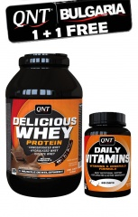 QNT Delicious Whey 1kg + Daily vitamins 60 caps